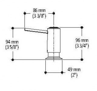 Kalia AC1113-130 CITÉ Soap Dispenser Stainless Steel PVD
