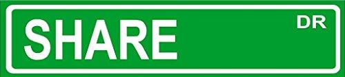 Share 6  Bumper Sticker Street Sign Art