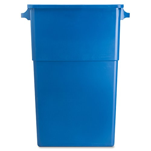 "Genuine Joe GJO57258 Recycling Rectangular Container, 28 gallon Capacity, 22-1/2"" Width x 30"" Height x 11"" Depth, Blue"