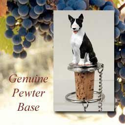 (Bull Terrier Brindle Wine Bottle Stopper - DTB07B)