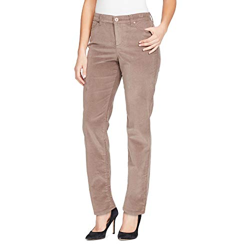 ndie Fine Stretch Corduroy Pant, Falcon Taupe, 14 ()