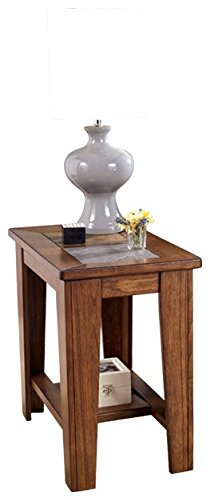 Ashley Furniture Signature Design   Toscana Rustic Chair Side End Table    Rectangular   Rich Warm