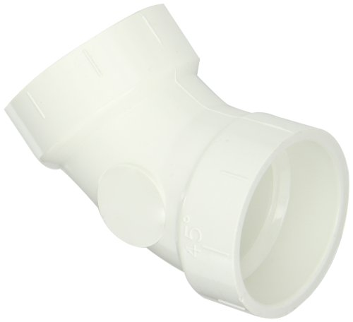 Spears P321 Series PVC DWV Pipe Fitting, 1/8 Bend, Elbow, 1-1/2
