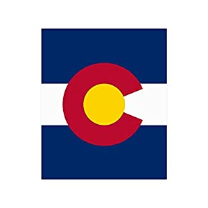 American US USA State Colorado Flag fade-resistant Poster 20