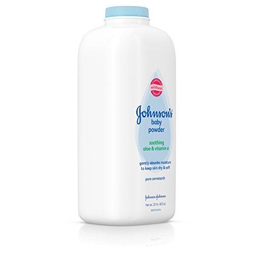 Johnson's Baby Powder With Aloe Vera & Vitamin E, Diaper Rash Protection, 22 Oz. (Pack of 6) by Johnson's Baby (Image #2)