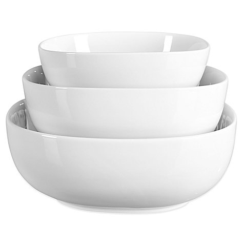 Table Serving Pieces - Tabletops Unlimited Denmark Tools for Cooks Oven to Table 3-Piece Serving Bowl Set