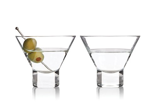 Viski 3718 Raye Stemless Martini Glasses (2 pack) -