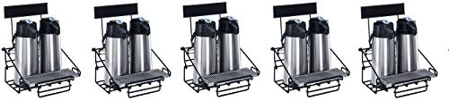 Wilbur Curtis 2 Position Wire Airpot Rack - Compact Design with Integral Drip Tray - WR2B0000 (Each) (5-(Pack))