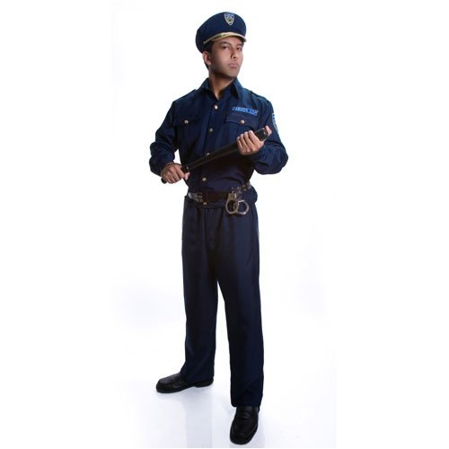 Adult Police Officer Costume Set - (Men Cop Costumes)