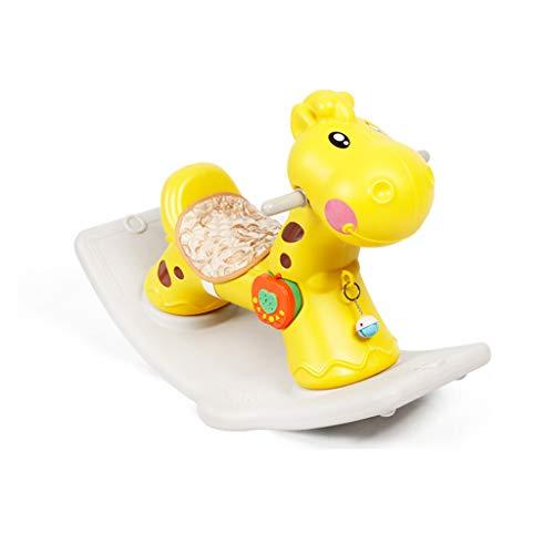 Caballo Balancín Troyano para niños Caballo Mecedora Juguete de plástico Espesar Grande Bebé 1-2 años Regalo Mecedora...
