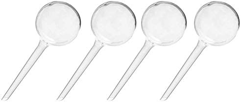 Clear Pack of 4 Aqua Globes Small Plant Auto Self-Watering Plastic Balls Chris.W Automatic Watering Bulbs Glass-Like Finish