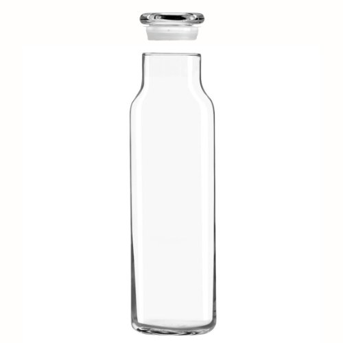 Libbey Glass 24 Oz. Hydration Decanter Carafe Bottle w/Lid - Straight Cylinder by Libbey