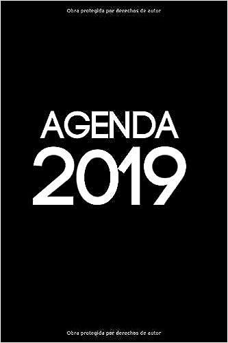 Agenda 2019: Agenda 2019 con fondo negro, para tener todo el ...