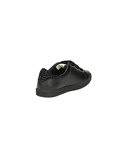 Liu Jo Sneaker Mujer Running Aura Con Velcri Strass Cuero Negro