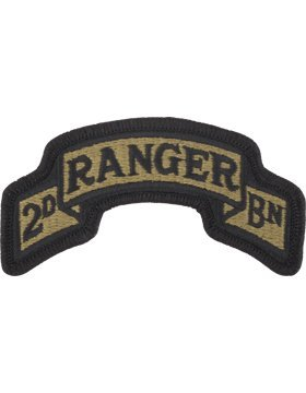 PMV-0075E, 2/75th Ranger Regt 2nd Bn MultiCam w/ Fast A-1-696 PATCHES & TABS-W/VELCRO ()