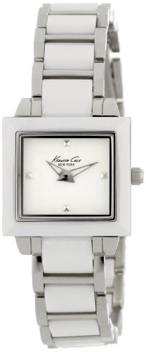 Kenneth Cole New York Women's KC4743 Petite Chic Classic Square Case with Ceramic Bezel Watch