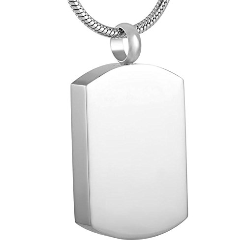 Engravable Urns (Openable Stainless Steel Memorial Engravable Pendant Cremation Jewerly Ashes Urn)