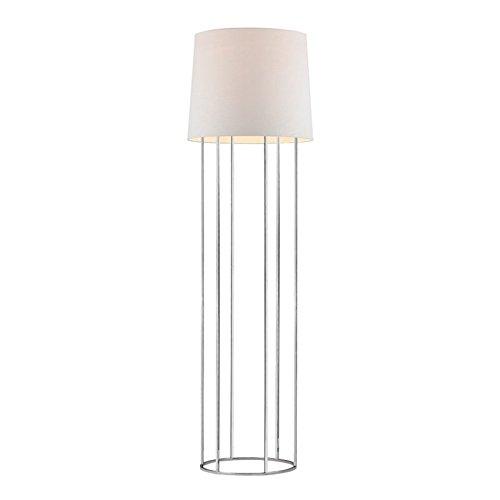 63 in. LED Floor Lamp in Polished Nickel