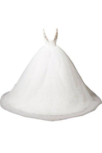 ... Missdressy Herrlich U-Ausschnitt Tuell Hochzeitskleider Brautkleider  Ballkleider Strass Steinen