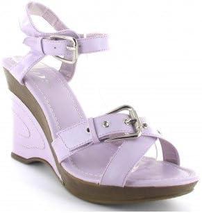 Talon compense Chaussures compensées femme de couleur violet