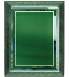 9 x 12 Green Mirror Plaque Engraved with Green Plate in Frame by Gino's Awards Inc