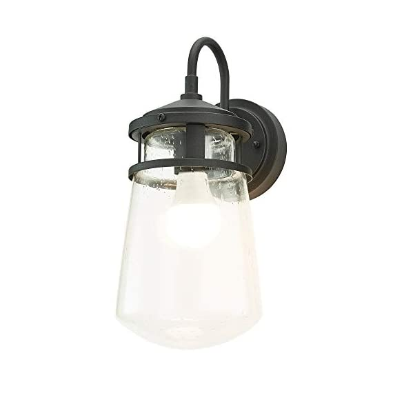 "Home Luminaire 31676 Montana Outdoor Wall Lantern, Black - Add some seaside flair to your outdoor space Use it to light up your front porch, back deck, or even your driveway Package dimensions: 9.05"" L x 9.05"" W x 19.68"" H - patio, outdoor-lights, outdoor-decor - 31Gd24YgB L. SS570  -"