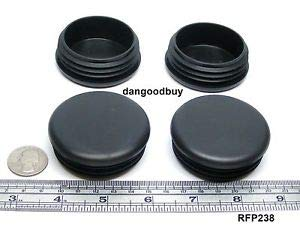 75 Round Plastic Finishing Plugs for 2 3/8'' Inch Diam Tube Ribbed Caps Ends Temperature Range of –25° to +180° F. Material is nonmarking.