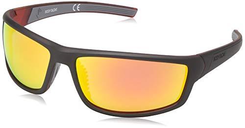 - Body Glove Vapor 16 Smoke Polarized with Mirror Flash Sunglasses, Black/Orange