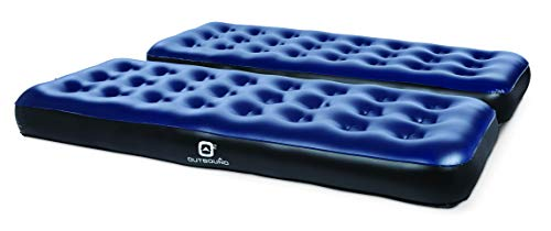 Outbound Twin Air Mattress Portable Air-Bed Single Size Inflatable Mattress Blow Up Bed for Camping Repair Patch, Single, 2 Pack