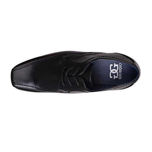 para Hombre negro Sintético de de Zapatos Cordones Giorgio Material 0waqRYqO