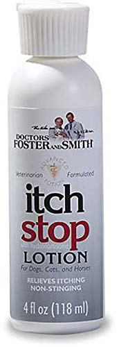 Hot Spot Lotion - DRS. Foster and Smith Itch Stop Lotion for Dogs, Cats and Horses, 4 fl. oz.