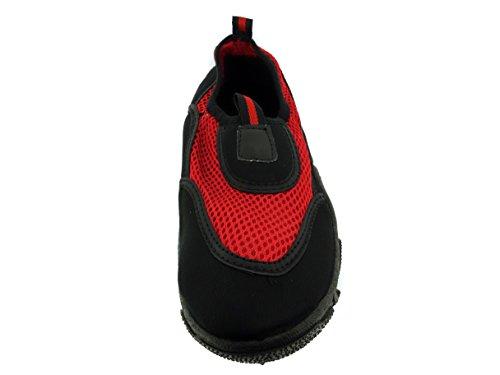 Zapatillas Mujer Aqua Zapatos Negro / Rojo