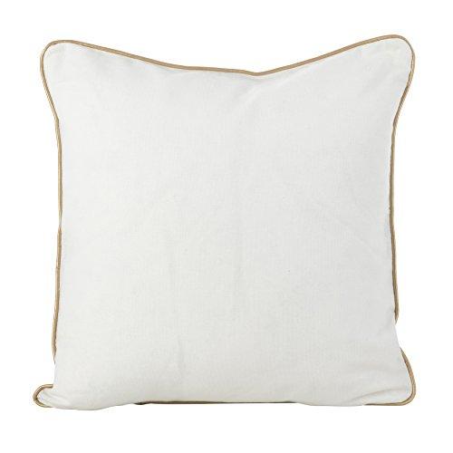 SARO LIFESTYLE Metallic Christmas Tree Design Cotton Poly Filled Throw Pillow, 18 , White