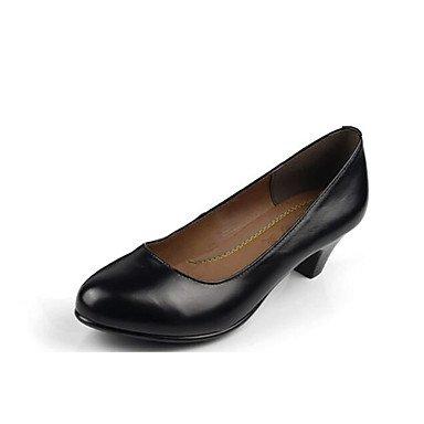 LvYuan-ggx Da donna Tacchi Scarpe formali Di pelle Primavera Autunno Scarpe formali Quadrato Nero 7,5-9,5 cm, black, us6.5-7 / eu37 / uk4.5-5 / cn37
