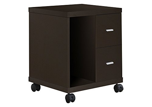 Monarch Specialties 2-Drawer Computer Stand on Castors, - Cabinet Cpu
