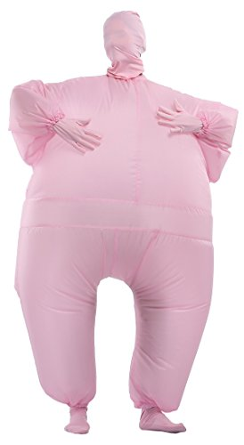 Full Body Fat Suit Costume (Goodsaleok Funny Fat Inflatable Full Body Costume Suit Blow Up Halloween Costume, Pink)