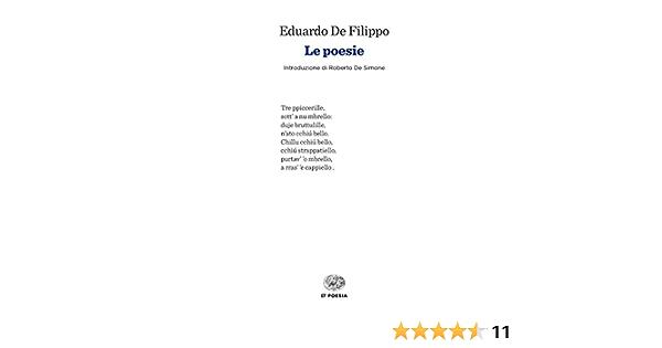 Le Poesie De Filippo Eduardo 9788806232047 Amazon Com Books