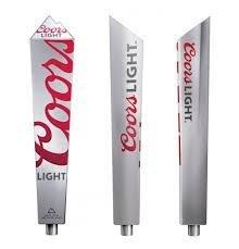 Coors Light Beer Recycled Aluminium Beer Tap Handle Keg ()