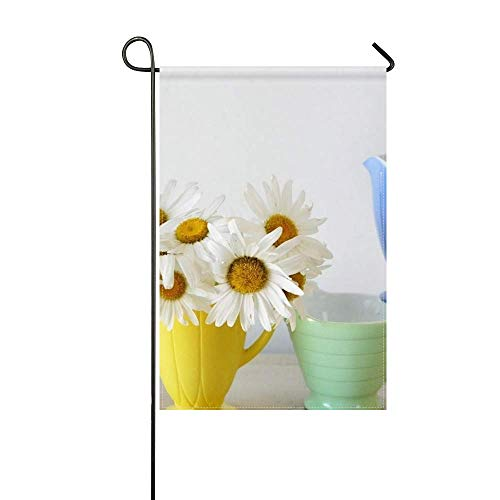 ZLU Garden Flag Daisies Flowers Bouquet Cups Colorful 12x18 inches(Without (Garden Bouquet Cup)