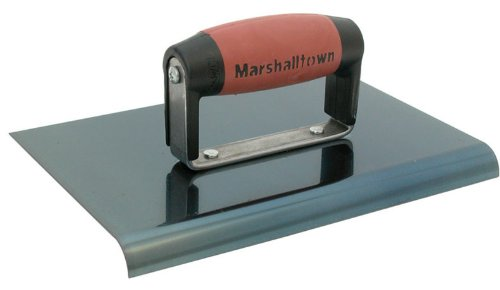 MARSHALLTOWN The Premier Line 163BD 6-Inch by 6-Inch Blue Steel Edger with DuraSoft Handle