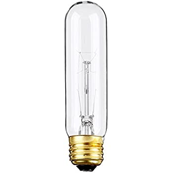 (Pack Of 6) 25-Watt T10 Tubular Clear Incandescent Medium Base (E26) 120- Volt Light Bulb