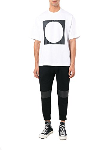 Diesel Black Gold Herren 00SZ8GBGTIH100A Weiss Baumwolle T-Shirt