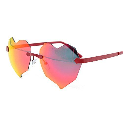 Gafas Moda Rosado Bastidor Sin GUO Sol Gafas de de A Corazon wpRIgq