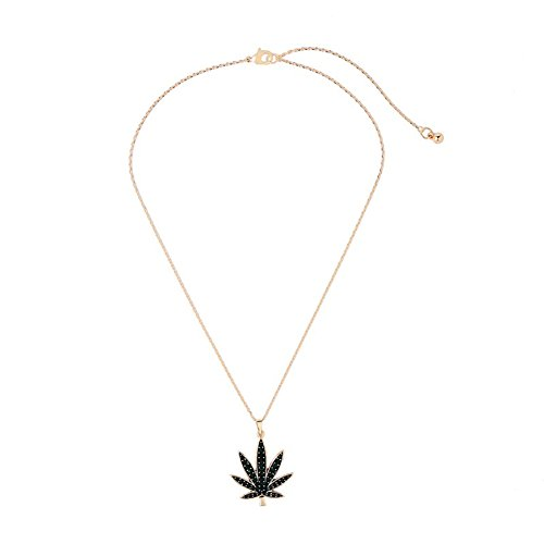 AILUOR Maple Leaf Necklace, Gold-Plated Dark Green Crystal Sugar Maple Leaf Pendant Chain Necklace Holiday Jewelry for Women Girl (Sugar Womens Very Nice)