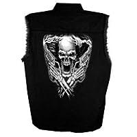 Hot Leathers Assassin Sleeveless Shirt (Black, X-Large)