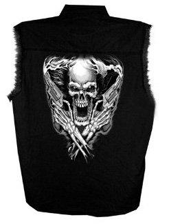 Hot Leathers Assassin Sleeveless Shirt (Black, XXX-Large)
