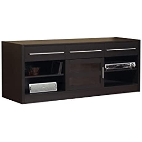 Monarch Specialties Hollow Core TV Console 60 Inch Cappuccino