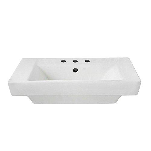 American Standard 0641.008.020 Boulevard 8-Inch Center Faucet Holes Pedestal Basin, White