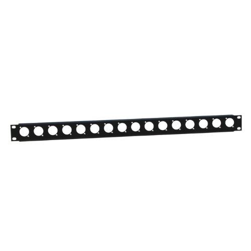 ah 19 Parts 872225 - Profilato rack, 1 U, con 16 vani per connettori XLR ah 19 Parts