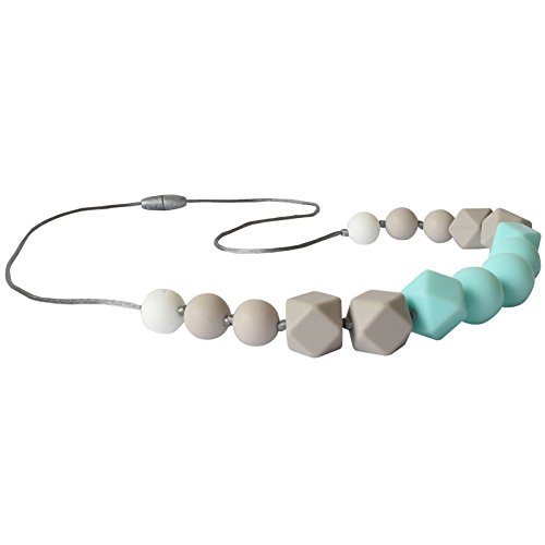 Mint Itzy Ritzy Teething Happens Silicone Necklace Petite Strand